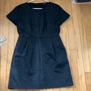 Black Madewell fitted brocade dress